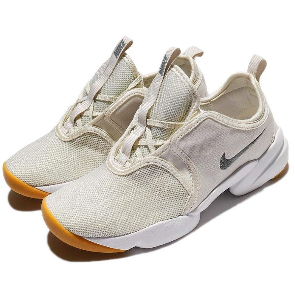【六折特賣】Nike 休閒鞋 Wmns Loden 忍者鞋 米白 灰 襪套式 無鞋帶 運動鞋 女鞋【PUMP306】 896298-008