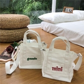 2108新款帆布包包女單肩大學生韓版簡約原宿ins手提斜跨小購物袋☌zakka