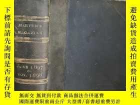 二手書博民逛書店1897年罕見Harpers Monthly Magazine
