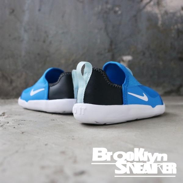 Nike LIL SWOOSH 藍黑 白底 襪套式 休閒鞋 小童 (布魯克林) 2019/3月 AQ3113-401
