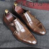 真皮男士商務正裝皮鞋