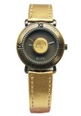 【卡漫城】 九折出清 Snoopy 鈕釦 手錶 金 ㊣版 皮革 古銅 史努比 史奴比 女錶 個性錶 卡通錶 復古