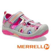 【MERRELL 美國】HYDRO 童水陸兩棲鞋『淺灰/彩虹』K162544 機能鞋.多功能鞋.休閒鞋.童鞋