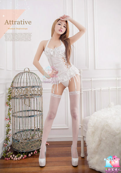 【愛愛雲端】性感內睡衣 性感內褲 開檔褲 丁字褲 蕾絲 四件式 馬甲組 R2NA09030031