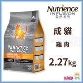 Nutrience紐崔斯『 INFUSION天然成貓 (雞肉)』2.27kg【搭嘴購】
