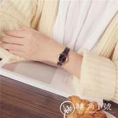 手錶 文藝時尚復古皮帶表防水女士手表女高中學生正韓簡約潮流