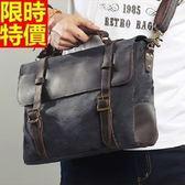 手提包-時尚單肩商務個性男帆布包2色67g57【巴黎精品】