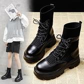 馬丁靴 內增高馬丁靴女英倫風2021年新款春季中筒百搭瘦瘦雪地棉短靴子【快速出貨八折搶購】
