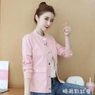 春秋女短款棒球服外套2020韓版新款流行女士開衫夾克上衣百搭外衣「時尚彩紅屋」