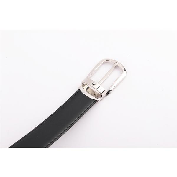 【MONT BLANC】雙面可調尺寸商務皮帶(黑色/棕色) 114412