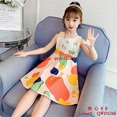 女童純棉連衣裙夏裝2021新款兒童洋氣背心裙子夏季女孩網紅公主裙【齊心88】