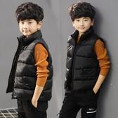 兒童馬甲 童裝秋冬男童羽絨棉馬甲兒童中大童冬季加厚男孩坎肩背心外穿馬夾 歐歐
