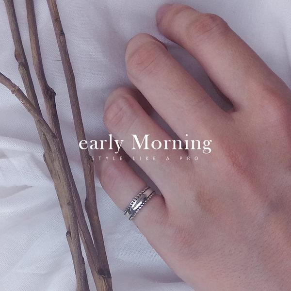 ✢韓版✢ early Morning - 素面小麻花925純銀嬉皮尾戒 腳戒指 關節戒 開口戒指韓版【PLE005d】