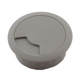 54mm淺灰色書桌出線孔蓋2入