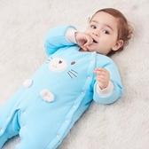 南極人新生嬰兒連體衣秋冬季加厚寶寶衣服冬裝外出抱衣保暖爬爬服Mandyc