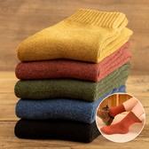襪子女中筒襪秋冬季加絨加厚冬天保暖月子潮毛巾羊毛長筒棉襪純棉-ifashion