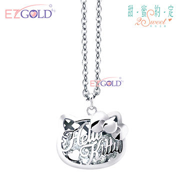 Hello Kitty凱蒂貓-閃耀巨星-銀飾墜子