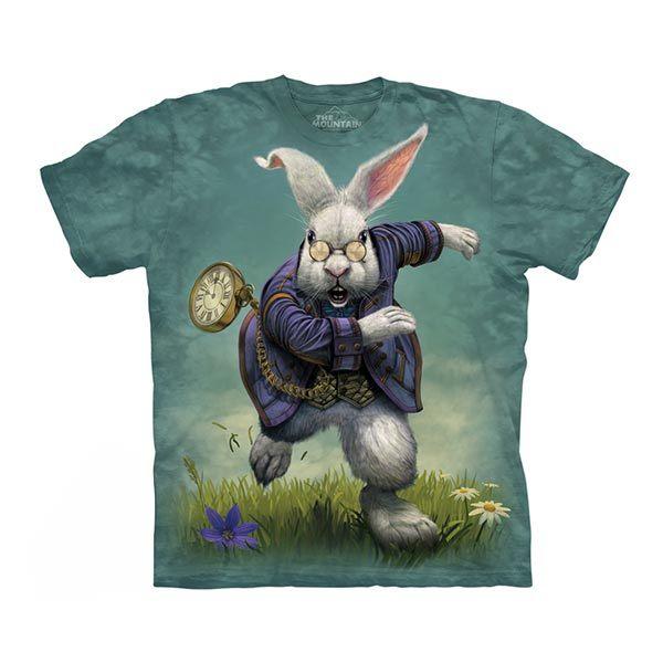【摩達客】(預購)美國進口The Mountain 愛麗絲夢遊白兔 純棉環保短袖T恤(10415045090)