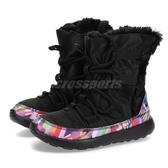 【四折特賣】Nike 休閒鞋 Roshe One Hi Print PSV 黑 彩色 休閒鞋 童鞋 中童鞋【PUMP306】 807745-002