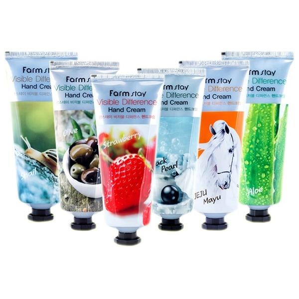韓國 Farm stay 保濕護手霜(100ml) 蝸牛/橄欖/草莓/黑珍珠/馬油/蘆薈 款式可選【小三美日】