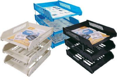 義大文具~W.I.P A4三層公文架 BH553 雜誌架 書架 資料收納 檔案夾也可放!