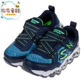 《布布童鞋》SKECHERS_S_LIGHTS_藍色Z型電燈兒童機能氣墊運動鞋(17~23.5公分) [ N9T36LB ]