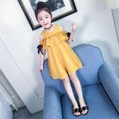 連身裙韓版兒童裝夏季時尚大童洋氣女童洋裝子