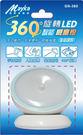 360度旋轉人體感應小夜燈 / 衣櫃燈 / 走道燈