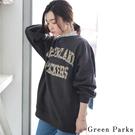 ■Chocol Raffin■  復古造型字母吸引目光 打造街頭感的長版上衣 袖上打褶增添設計感