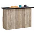 【森可家居】科瑞墨黑4尺桌面中島收納櫃(桌) 10JX474-1 廚房餐櫃 吧台桌櫃 現代輕工業風 MIT