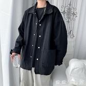 風衣外套 春秋季男士韓版寬松工裝夾克學生帥氣ins潮百搭港風潮牌復古外套 歐歐