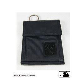 Backbager 背包族【MLB 美國大聯盟 洋基】直式 魔鬼氈 名片夾/皮夾/短夾/錢包-黑色