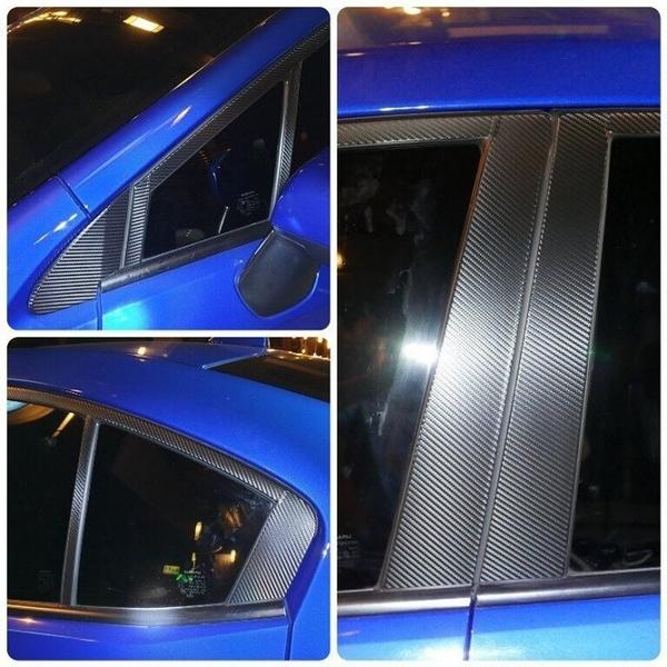 SUBARU速霸陸WRX【ABC柱卡夢保護貼+上緣窗框】一組19張/有晴雨窗不適用 中柱貼膜