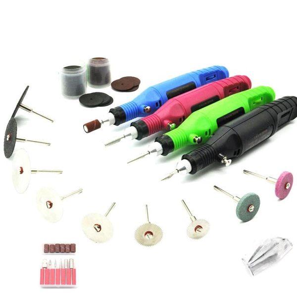 迷你電磨筆微型電鑽雕刻機電動手鑽打磨拋光蜜蠟文玩角磨機電磨機    智能生活館