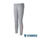 K-SWISS Leggings W/Print運動內搭褲-女-灰