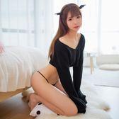 角色扮演性感衣服可愛毛衣服激情套裝露肩制服誘惑角色扮演情趣內衣女