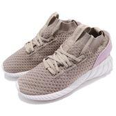 adidas 休閒鞋 Tubular Doom Sock PK W 咖啡 粉紅 Primeknit 編織鞋面 小V2 女鞋【PUMP306】 CQ2483