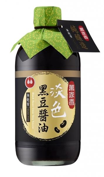 萬家香淡色黑豆醬油450ml
