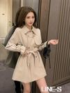 秋季2020新款小個子設計感中長款風衣女士英倫風高端流行收腰外套