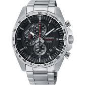 SEIKO精工 CS 重裝計時手錶-黑x銀/44mm 8T67-00H0D(SSB319P1)