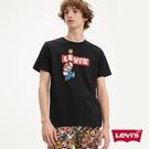 Levis X Super Mario限量聯名 男女同款 短袖T恤 / 翻玩瑪利歐Logo 黑