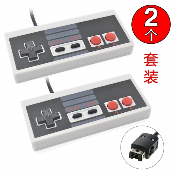 2個任天堂mini nes懷舊復古游戲手柄迷你紅白機mini fc有線手柄