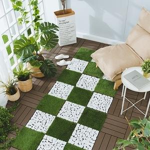 樂嫚妮 塑木地板 30x30cm 五款 9入 0.25坪咖啡色