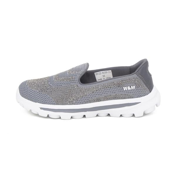 W&M (女)大圓頭亮鑽彈力厚底懶人鞋 女鞋 - 灰(另有 藍.紫)