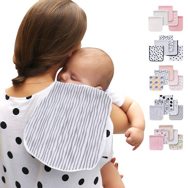 5條入-加厚三層純棉拍嗝巾 打嗝巾 多功能墊布 枕巾-JoyBaby