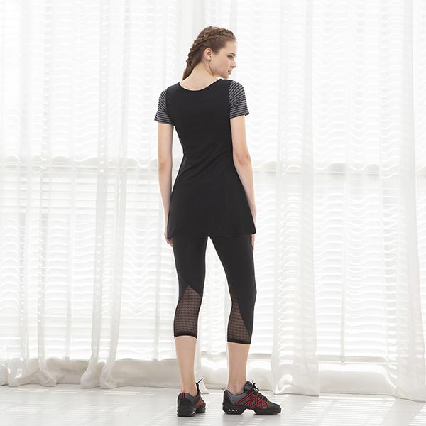 *╮寶琦華Bourdance╭*專業瑜珈韻律芭蕾★短袖長版上衣( 內有裡襯附罩杯)【D19215】此款有GL尺寸