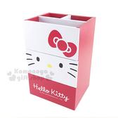 〔小禮堂〕Hello Kitty 桌上型二抽收納盒《紅白.大臉.AE11-0421》 4713052-38190