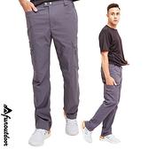男款多口袋防潑水透氣排汗輕彈防曬長褲 (HPM017 鐵灰/褐色)【戶外趣-年度新款】