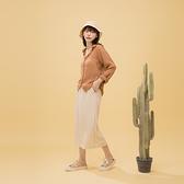 Queen Shop【03020893】後開衩設計坑條棉質腰綁帶長裙 三色售*現+預*
