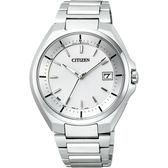 CITIZEN 鈦金屬光動能電波腕錶-銀/40mm CB3010-57A